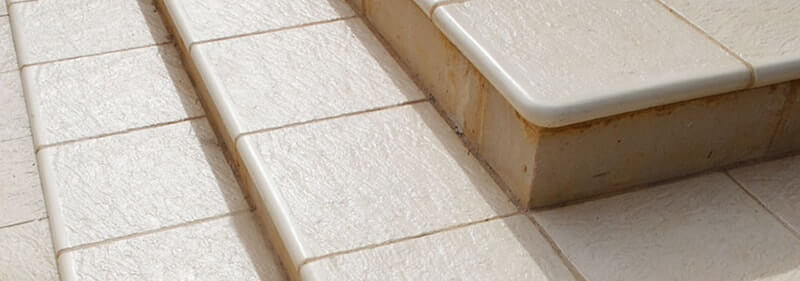 Beach natural limestone stairs with 400 bullnose & external corner