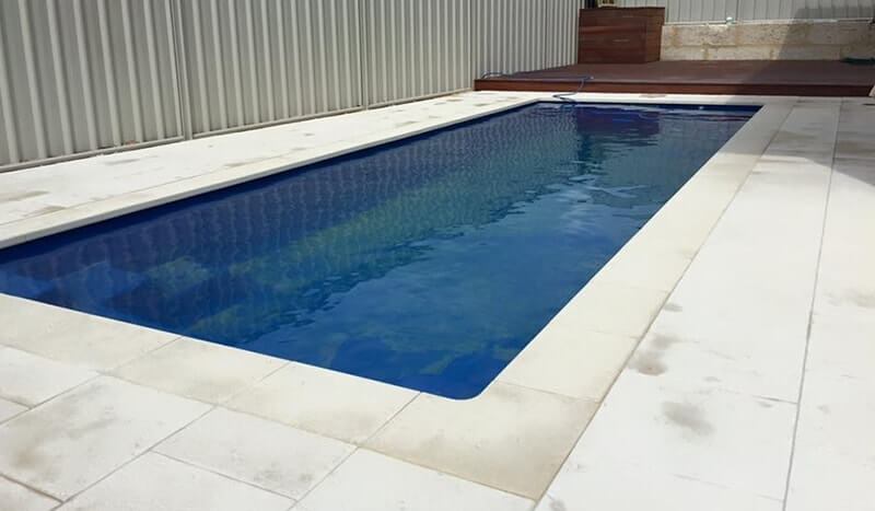 Castlestone poolside bullnose silver grey and internal corners