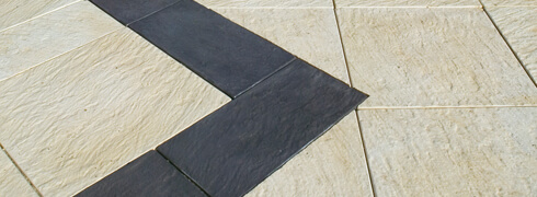 Castlestone Half Paver Border 400x200 available in 3 patterns
