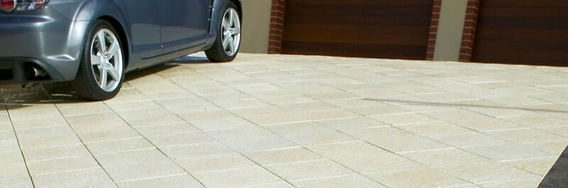 Driveway pavers by Castlestone in Beach pattern