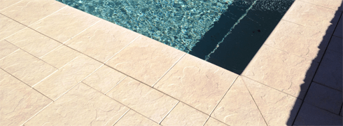 Castlestone Slate Pattern - available for alfresco and driveway paving plus standard borders