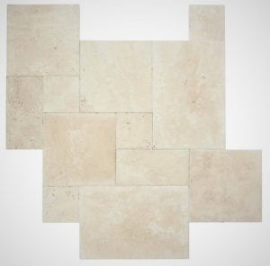French Pattern Travertine by Castlestone