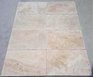 Travertine Rectangle Paver in Pearl (Cream)