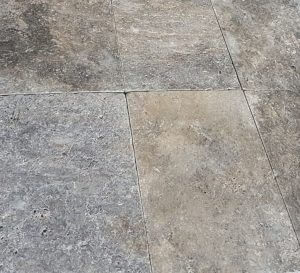 Travertine Rectangle Paver in Platinum